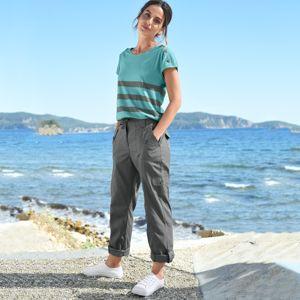 Blancheporte Rovné kalhoty s kapsami bronzová 50