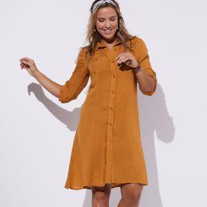 Blancheporte Košilové šaty, jednobarevné karamelová 42