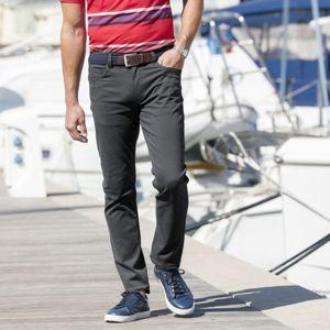 Blancheporte Twilové kalhoty rovného střihu antracitová 48