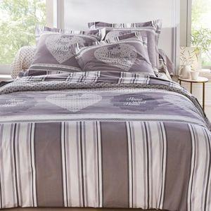 Blancheporte Povlečení Angélique, bavlna šedá povlak na přikrývku 240x220cm