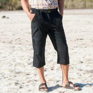 Blancheporte 3/4 kalhoty + sladěný opasek černá 40/42