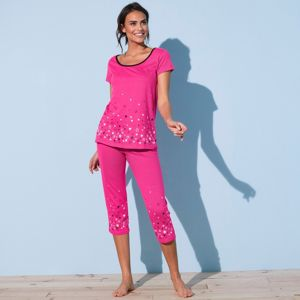 Blancheporte 3/4 pyžamové kalhoty s motivem hvězdičkového deště fuchsie 54