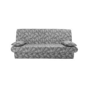 Blancheporte Potah na pohovku clic-clac, prošívaný a s potiskem šedá/bílá napínací prostěradlo 140x190cm