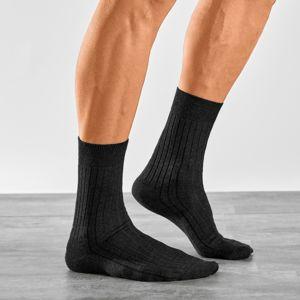 Blancheporte Ponožky pro citlivé nohy, sada 2 párů černá 39/42