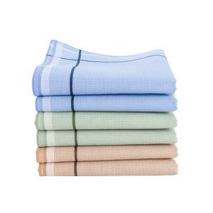 Blancheporte Pánské kapesníky, kostička, sada 6 nebo 12 ks modrá+zelená+kaštanová 6ks 40x40cm