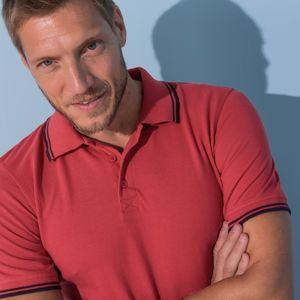 Blancheporte Polo tričko s krátkými rukávy korálová 107/116 (XL)