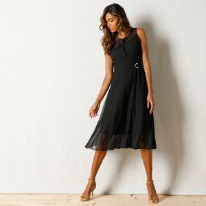 Blancheporte Voálové šaty černá 48