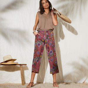 Blancheporte Široké kalhoty s potiskem vícebarevná 40
