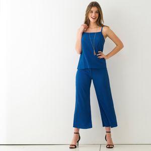 Blancheporte 3/4 kalhoty s plisováním tmavě modrá 46/48