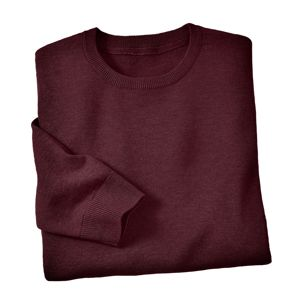 Blancheporte Jednobarevný pulovr s kulatým výstřihem bordó 137/146 (4XL)