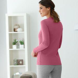Blancheporte Termo tričko se stojáčkem, dlouhé rukávy růžové dřevo 34/36