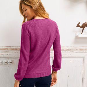 Blancheporte Originální pulovr purpurová 52