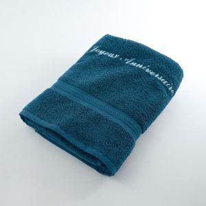 Blancheporte Froté sada paví modrá osuška 70x130cm