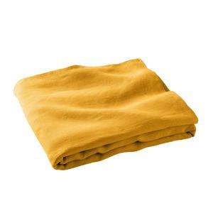 Blancheporte Přehoz na pohovku, 100% len v prané úpravě kari 150x150cm