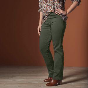 Blancheporte Rovné kalhoty pro ploché bříško khaki 48
