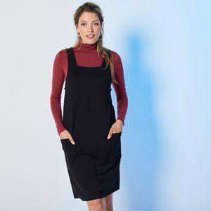 Blancheporte Jednobarevné šaty z úpletu Milano černá 46/48