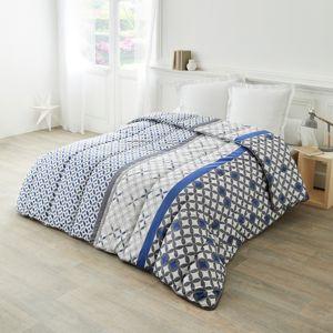 Blancheporte Bavlněná přikrývka s potiskem Marlow 200g/m2 šedá/modrá 140x200cm