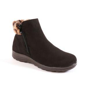 Blancheporte Kotníková obuv s hřejivou podšívkou černá 36