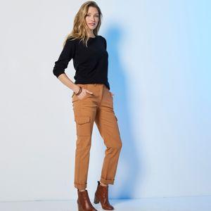 Blancheporte Cargo rovné kalhoty karamelová 36