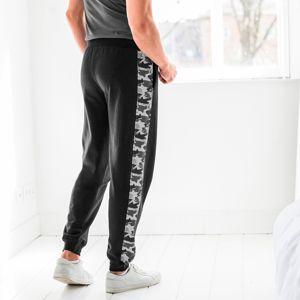 Blancheporte Sportovní kalhoty s maskáčovým vzorem černá 36/38