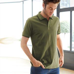 Blancheporte Polo tričko s krátkými rukávy olivová 127/136 (3XL)
