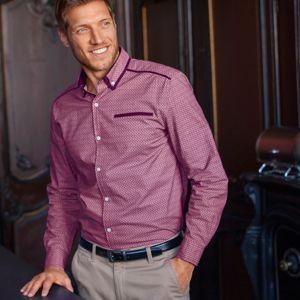 Blancheporte Košile s dvojitým límečkem a dlouhými rukávy bordó 39/40