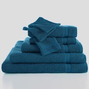 Blancheporte Měkká froté sada zn. Colombine paví modrá 2x ručníky 50x100cm