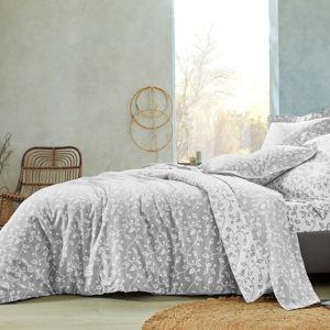 Blancheporte Povlečení Dědictví, bavlna šedá povlak na polštář 70x90cm,povlak na přikrývku 140x200cm