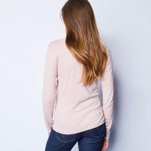 Blancheporte Tričko se stojáčkem a dlouhými rukávy růžová pudrová 34/36