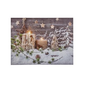Blancheporte Obraz s LED zářivkami, vánoční motiv